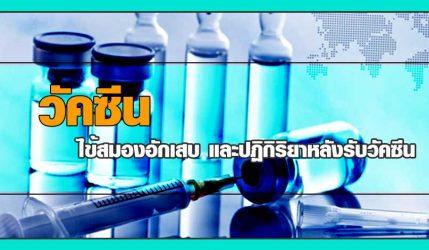วัคซีน ไข้สมองอักเสบและปฏิกิริยาหลังรับวัคซีน